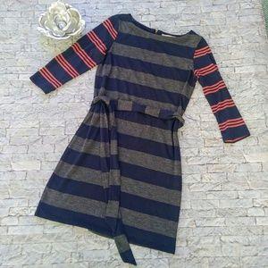 Ann Taylor LOFT Belted Knit Dress Size Small